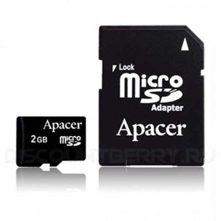 Apacer microSDHC Class 2 Card + SD adapter