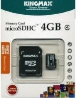 Kingmax microSDHC Class 4 Card 4GB + SD adapter