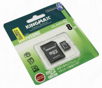 Kingmax microSDHC 8GB Class 10 Waterproof (Card + SD adapter)